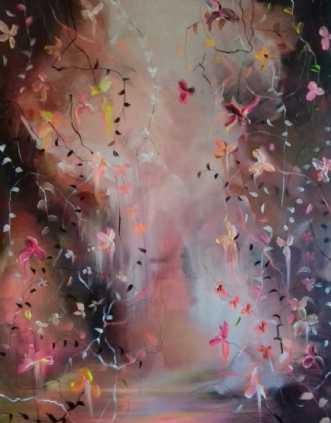 Dreamlike Flowersca.. by Anne Krøjer | maleri