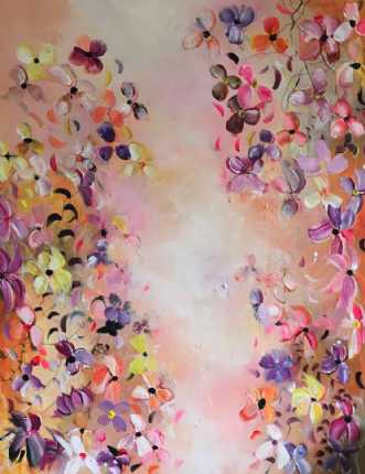 Joy of flowers by Anne Krøjer | maleri