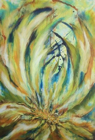 Hvad blomsten gemme.. by Lisbeth Christensen | maleri