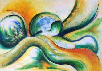 Vejen til drømmene by Lisbeth Christensen | maleri