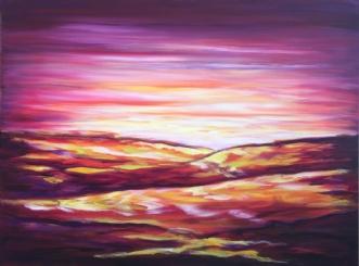 Dagens sidste lys by Lisbeth Christensen | maleri