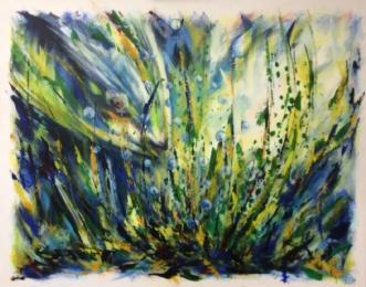 Dybets hemmelighed by Lisbeth Christensen | maleri