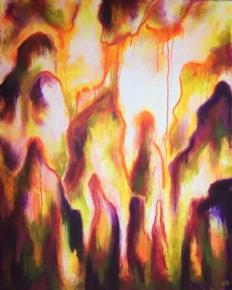 Ud af skyggen by Lisbeth Christensen | maleri