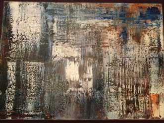 Blå regn by Inge Torp | maleri