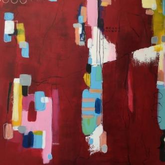 Rød by Inge Torp | maleri