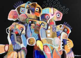 Familiesammenkomst by Jan Graus | maleri