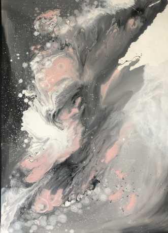 Abstrakt maleri  by Monika Pedersen | maleri