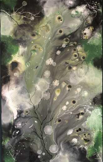 Abstrakt maleri woo.. by Monika Pedersen | maleri
