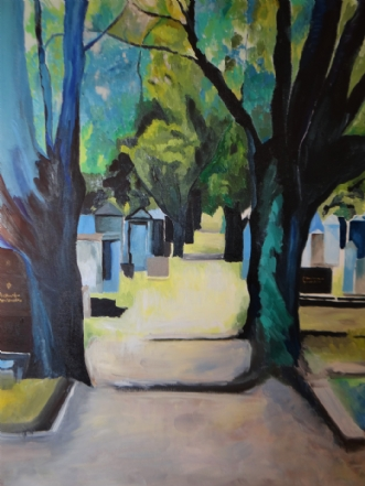 Stemningsfuld alle by Katarina Nielsen | maleri
