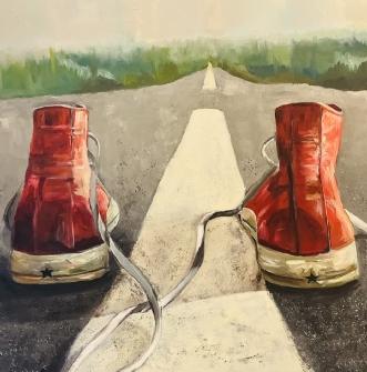 Walk the line by Katarina Nielsen | maleri