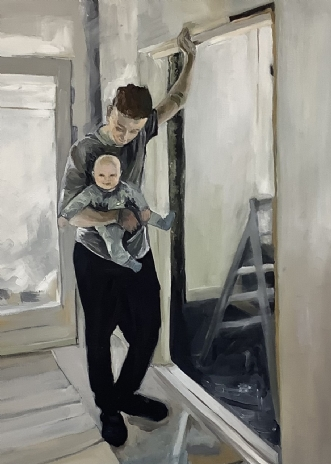 Father and son by Katarina Nielsen | maleri