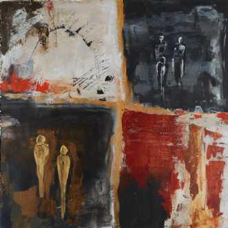 Life  squares  by Katarina Nielsen | maleri