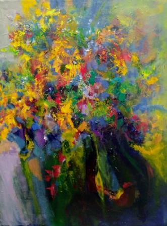 I en verden af farv.. by Margarita Katchan | maleri