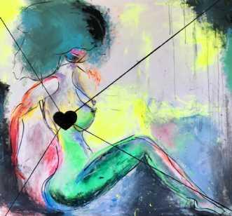 Følg hjertet by Kira Lykke | maleri