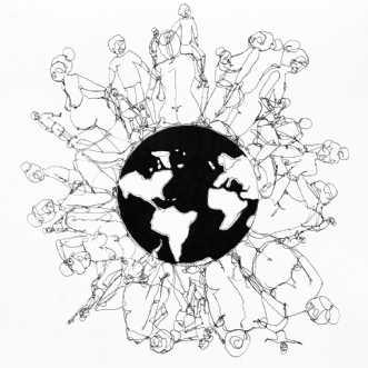 Kvinder af kloden by Kira Lykke | tegning