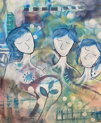 Kærlighedenbånd by Lene Lund-Jensen | maleri
