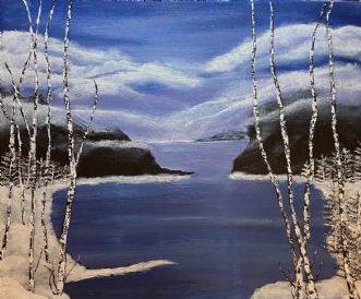 Silence by Lene Lund-Jensen | maleri