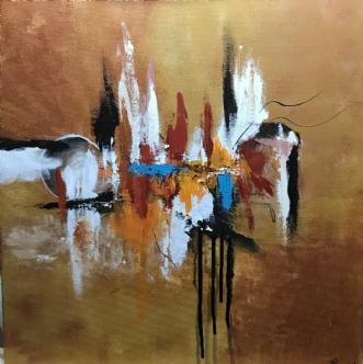 Abstrakt  by Lene Lund-Jensen | maleri