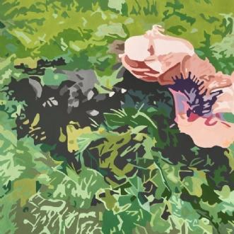 Svampe i skovbund by Vibeke Ringholm | maleri