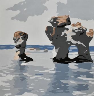 Rauker fra Fårø 'Hu.. by Vibeke Ringholm | maleri