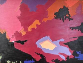 Aktiv Vulkan by Vibeke Ringholm | maleri