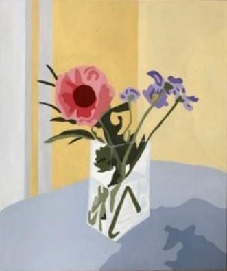 Blomst i firkantet .. by Vibeke Ringholm | maleri