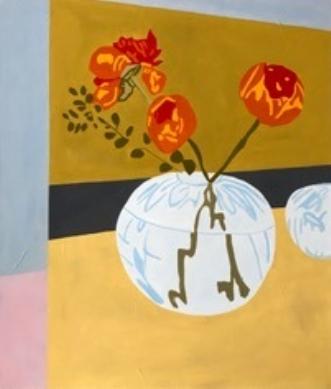 Blomst i rund vaseafVibeke Ringholm