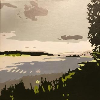Skovsø by Vibeke Ringholm | maleri