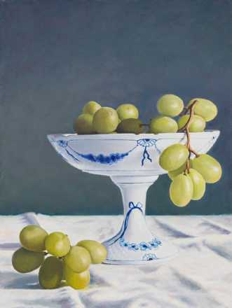 Green grapes in Roy.. by SteenR (Rasmussen) | maleri