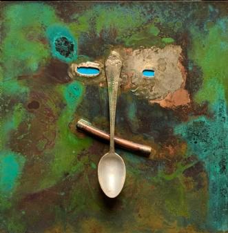 Kobbermaske med obj.. by Claus Steen Rasmussen | skulptur