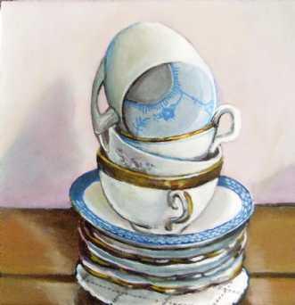 kaffekopper by Vita Bente Pedersen | maleri