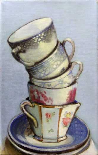 Kaffe tårn by Vita Bente Pedersen | maleri