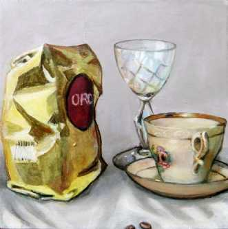 Kaffe pose by Vita Bente Pedersen | maleri
