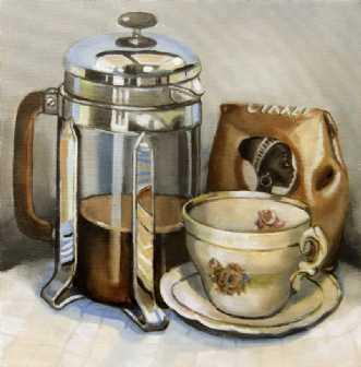 Kaffe pause by Vita Bente Pedersen | maleri
