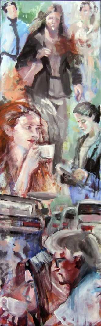 Byens puls by Vita Bente Pedersen | maleri