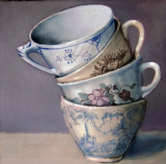 Kopper til kaffe by Vita Bente Pedersen | maleri