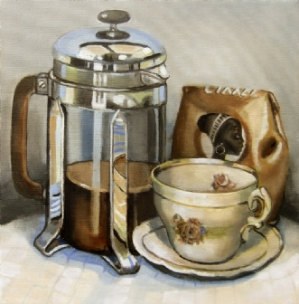 coffee by Vita Bente Pedersen | maleri