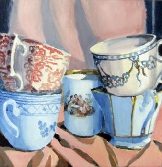 5 stk kopper by Vita Bente Pedersen | maleri