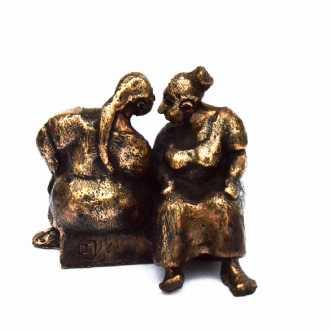 Sladrebænken by Lenie Tolstrup | skulptur