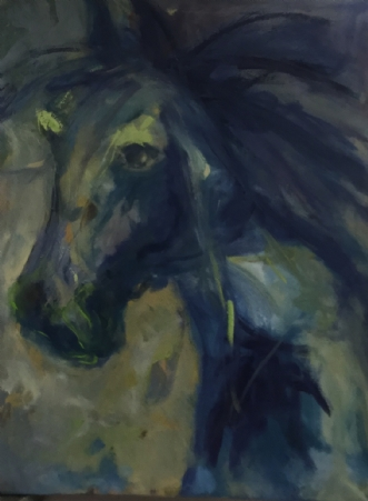 Hest by Lisbeth Holst Gundersen | maleri