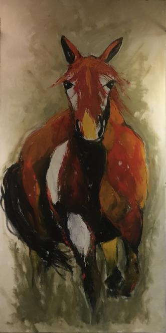 Rød hestafLisbeth Holst Gundersen