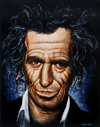 Keith Richards by Henning Dalhoff | maleri