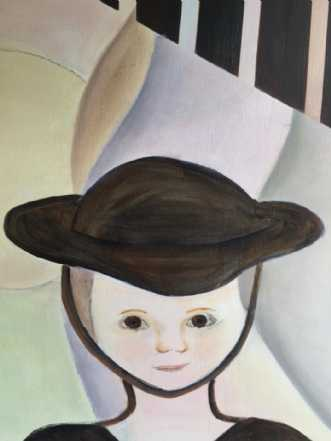 Pigen med hatten by Pernille Starnø | maleri