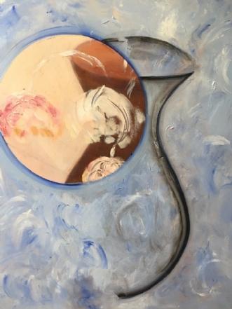 Vasen 2 by Pernille Starnø | maleri