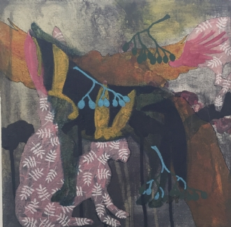 Uden titel by Karen Villia Jensen | maleri