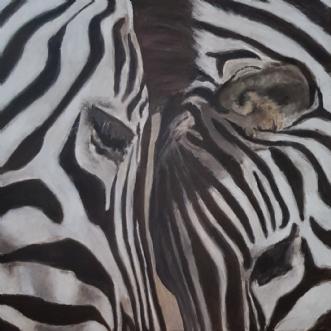 Zebraer by Gigi Gigja | maleri