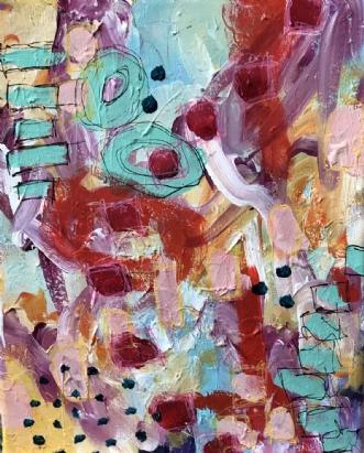 No title by Lone Maj Nørreløkke | maleri
