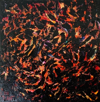 Ildfuglen, 2019 by Natalia Rose | maleri