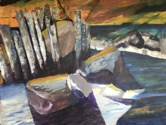 Ude titel  by Lis Severin | maleri