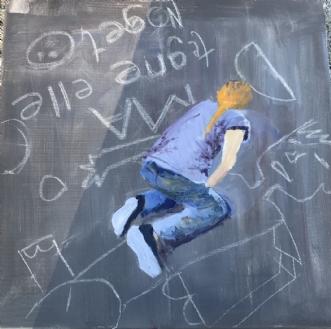 At tegne noget  by Lis Severin   maleri